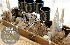 New Year Decorations 2014 Pinterest by New Years Sparkly Tablescape Lowes Giveaway By Jenna Burger