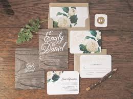 woodland floral wedding invitation u0026 correspondence set