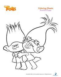 trolls coloring pages u2013 free printables u2013 free party printables