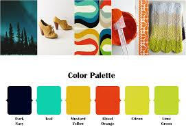 colorful retro color combinations pinterest weddings