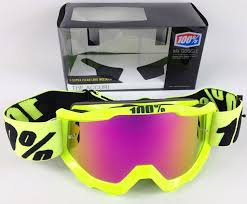 100 percent motocross goggles 100 accuri motocross mx goggles fluo yellow pink mirror lens