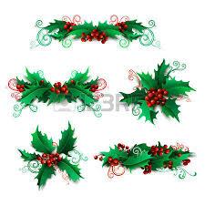 christmas holly berry mistletoe royalty free cliparts vectors