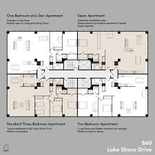 Floor Plan Apartment Design Chicago Architecture Mies Van Der Rohe Designed The 860 880