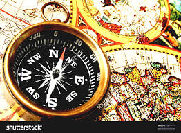 Map With Compass Vintage World Map With Compass And Glasses On Old Paper Stock