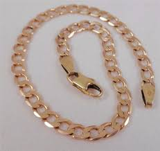 rose gold hummer vintage 9ct rose gold bracelet curb link by unoaerre italy lobster