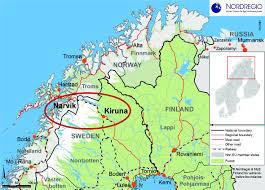 Map Sweden The Swedish Norwegian Cross Border Region Nordregio