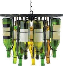 Lamps Made From Bottles Furniture Classy Diy Orginal Chandelier Made From Wine Bottles