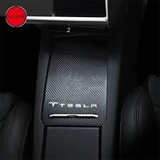 Tesla Carbon Fiber Interior Central Armrest Box Carbon Fiber Scratch Sticker Decal Protector