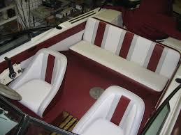 Interior Boat Cushion Fabric Homestyle Custom Upholstery And Awning 3 Tone Boat Interior