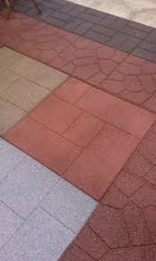 Rubber Patio Mats Splendid Outdoor Rubber Pavers Tiles Mats And Recycled Rubber