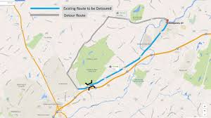 Map Route by Route 211 Unnamed Creek