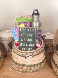 fishing gift basket diy s day fishing gift basket my finished gift baskets
