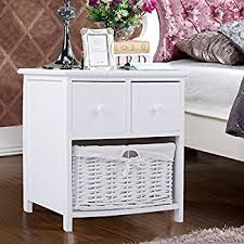 fineway brand new fully assembled white shabby chic bedside unit