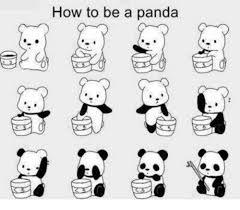 how to be a panda meme on me me