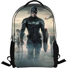 children bag avengers captain america cartoon style