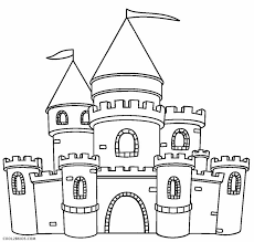 castle coloring pages kids coloring