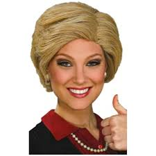 spirit halloween peoria il amazon com hillary clinton wig costume accessory clothing