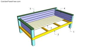 day bed plans daybed plans free garden plans how to build garden projects