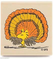 peanuts woodstock turkey wood rubber st thanksgiving holidays