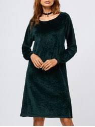 long green velvet dress cheap shop fashion style with free