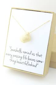 condolences gifts gold seashell necklace sea shell conch necklace sympathy