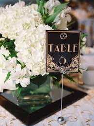 themed table numbers a great gatsby themed wedding in banff wedding tables table