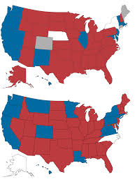 Red State Map by In A Further Blow To Democrats Republicans Increase Their Hold On