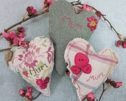 Fabric Heart Decorations Mother U0027s Day