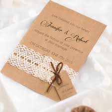 wedding tags vintage lace rustic wedding invitation with tags ewls048 as low as