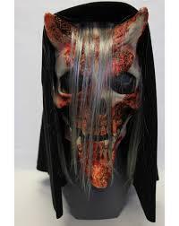 whispers hooded mask u2013 spirit halloween evil pins pinterest