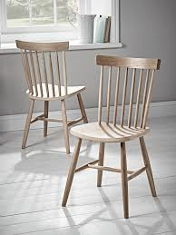 Oak Spindle Back Dining Chairs Two Oak Spindle Back Chairs