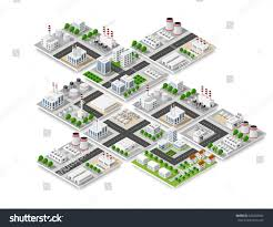 Skyscraper Floor Plans City Isometric Concept Urban Infrastructure Business Stock Vector
