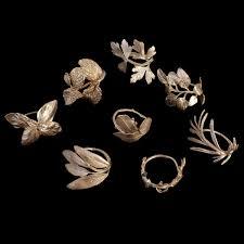 rings art images Herb napkin rings for eight michael michaud table art jpg