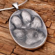 pet remembrance jewelry custom 3d dog paw print necklace for pet memorial jewelry real