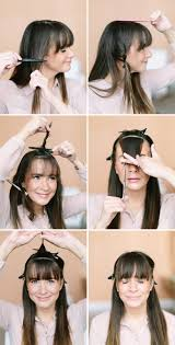 how to trim your own bangs camille styles