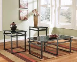 black glass top end tables ashley furniture t180 13 3 pc laney collection black matte finish