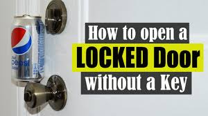 Unlock Bedroom Door Without Key How To Open A Locked Door Without A Key Youtube
