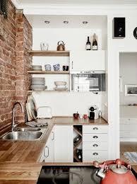 cuisine brique un mur en brique c est stylé en déco de cuisine cuisine bricks