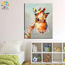 Aliexpresscom  Buy Hand Painted Canvas Oil Painting Cartoon - Canvas art for kids rooms