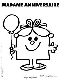 coloriages madame anniversaire à imprimer fr hellokids com