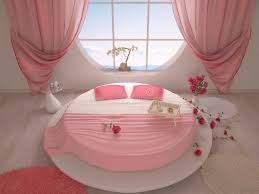 chambre a coucher avec lit rond chambre à coucher avec un lit rond illustration stock illustration