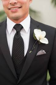 orchid boutonniere boutonnieres photos polka dot tie and orchid boutonniere