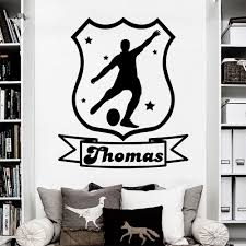 compare prices on wall stickers choose online shopping buy low custom made personalized name football game wall sticker boys room vinyl decal home wall decor