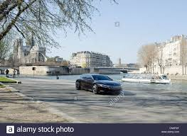 citroen concept citroen concept car on the banks of the river seine in paris stock