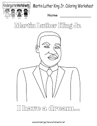 Free Printable Martin Luther King Jr Coloring Worksheet For Dr Martin Luther King Jr Coloring Pages