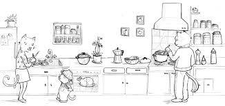 qui fait la cuisine la cuisine des petits chats j illustre a