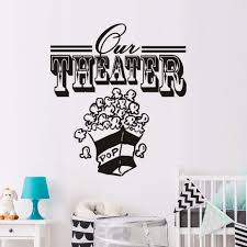 popular popcorn wall decor buy cheap popcorn wall decor lots from theater popcorn shape wall art sticker decal home diy decoration wall mural removable room decor removable