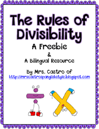 bilingual divisibility chart freebie math concentration