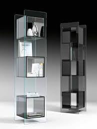 magique totem glass display cabinet by fiam glassdomain