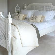 White Traditional Bedroom Furniture by White Painted Wicker Bed Frame Which Slicked Up With Traditional